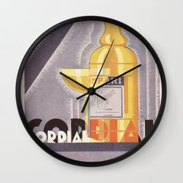 Vintage 1941 Cordial Campari Advertisement by Nicolay Diulgheroff Wall Clock