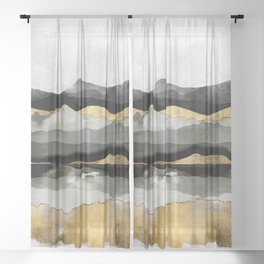 Golden Spring Moon Sheer Curtain