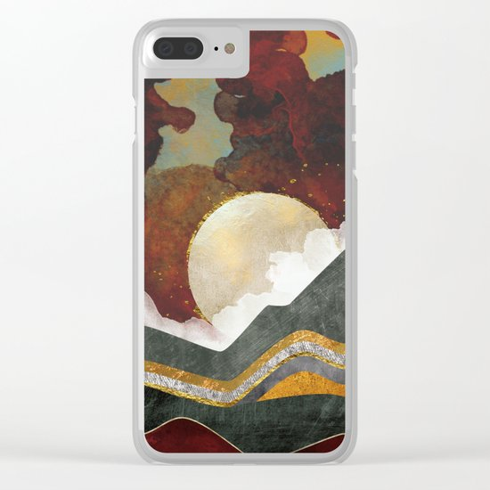 Red Sky Clear iPhone Case