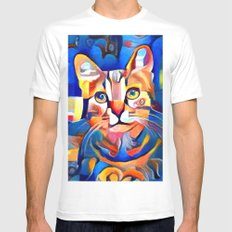The Look of Love MEDIUM White Mens Fitted Tee