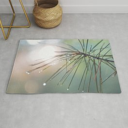 The Scent of Pine in the Morning - Nature Photography Rug