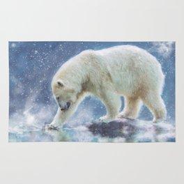 A polar bear at the water Rug