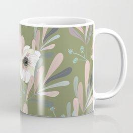 Anemones & Olives - Green Coffee Mug