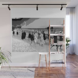 beach looks  karl black and white Wall Mural