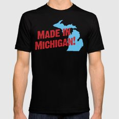 Made in Michigan MEDIUM Black Mens Fitted Tee