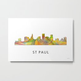 St Paul Minnesota Skyline WB1 Metal Print