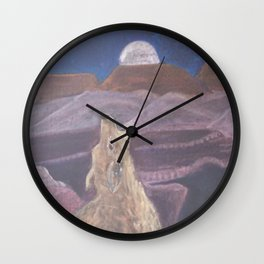 Coyote Sings Down the Moon Wall Clock