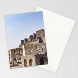 Mughal Arches Lining the Walkway up Golconda Fort in Hyderabad, India Stationery Cards