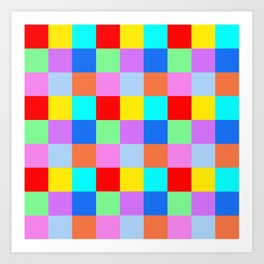 Patchwork of many Colors Art Print