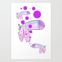 strange fish Art Print