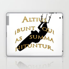 KiteSurf Freestyle They Will Rise Highest Who Strive High Laptop & iPad Skin