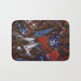 In Darkness Acrylic Abstract Bath Mat