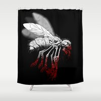 politics Shower Curtains featuring INSECT POLITICS by BeastWreck