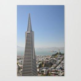 TransAmerica Building, Coit Tower and Alcatraz Canvas Print