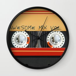 Awesome Mix Cassette Vol.1 Wall Clock