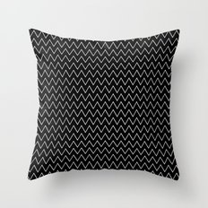 Black Chevron Throw Pillow