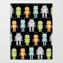 Robots - Black Poster
