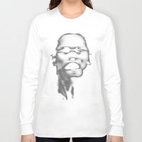 faces Long Sleeve T-shirts featuring FACES by ELECTRICBLOOM