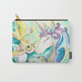 Kelpie unicorn and goldfish Carry-All Pouch