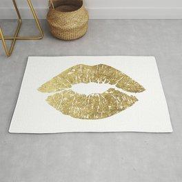 Gold Lips, Vanity Decor Rug