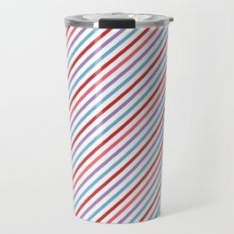 Lilac aqua pink red geometric trendy stripes Travel Mug