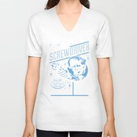 sonic V-neck T-shirts featuring Sonic Screwdriver by harebrained