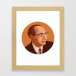 Queer Portrait - Aaron Copland Framed Art Print