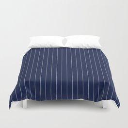 Navy Blue Pinstripes Line Duvet Cover