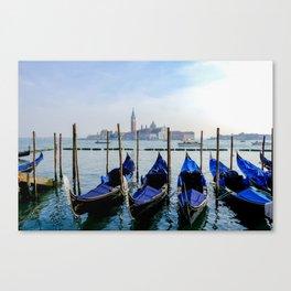 Row of Gondolas Venice Italy Canvas Print