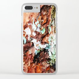 Colored Wood One Clear iPhone Case