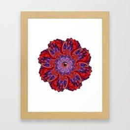 red-purple slime mandala Framed Art Print