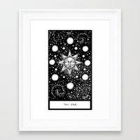 tarot Framed Art Prints featuring Star Tarot by Corinne Elyse