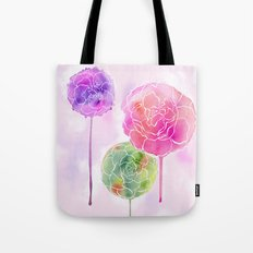 Succulent and Roses Tote Bag