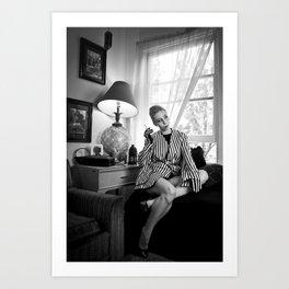 Striped Jacket Art Print