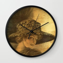 Golden victorian lady Wall Clock