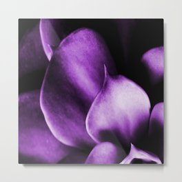 Succulent Leaves In Ultraviolet Color #decor #society6 #homedecor Metal Print