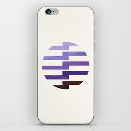 Minimalist Mid Century Circle Frame Purple Zig Zag Colorful Lightning Bolt Geometric Pattern iPhone Skin