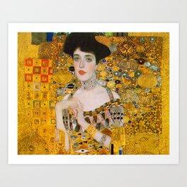 Adelle (Detail) Gustav Klimt Art Print