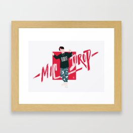 MicDrop Seokjin Framed Art Print