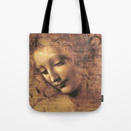 Head of a Woman - Leonardo Da Vinci Tote Bag