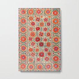 Kermina Suzani Uzbekistan Embroidery Print Metal Print