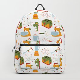 Retro Kitchen - Orange and Green Backpack