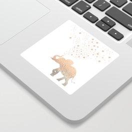 GOLD ELEPHANT Sticker