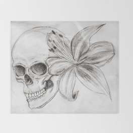 Skullgazer Lily Throw Blanket