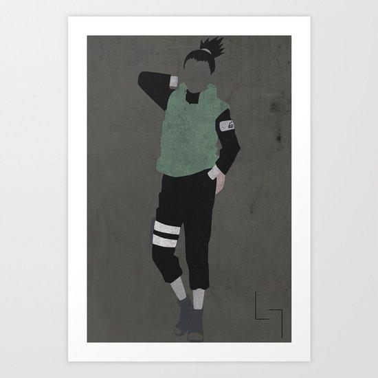 Shikamaru Art Print