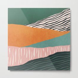 Modern irregular Stripes 02 Metal Print