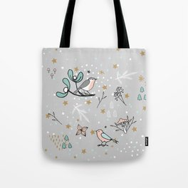 Scandinavian birds Tote Bag