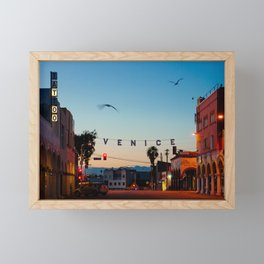 Venice Beach California Sunrise Framed Mini Art Print
