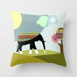 African Safari III Throw Pillow