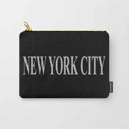 New York City (type in type on black) Carry-All Pouch